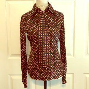 Diane von Furstenberg Silk Button Down Shirt
